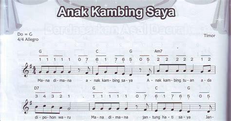 lirik lagu jembatan merah beserta notnya drawan kabul priyono yayasan pelangi nusa not balok dan