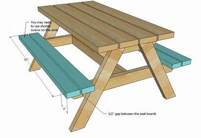 Picnic Table Plans Build Ana Wood Bigger