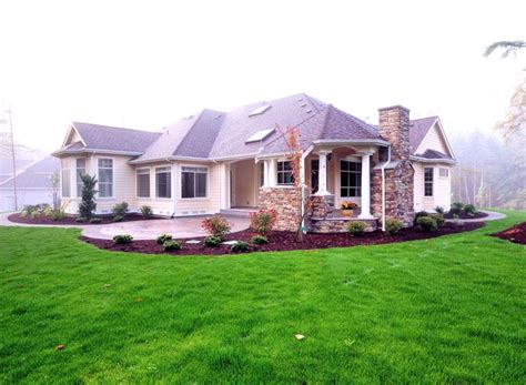 colonial country craftsman house plan