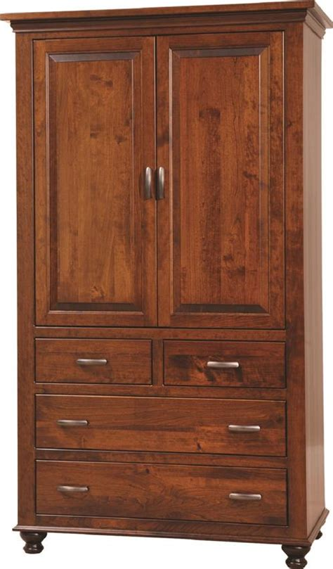 armoire with drawers sunbury armoire from dutchcrafters amish furniture