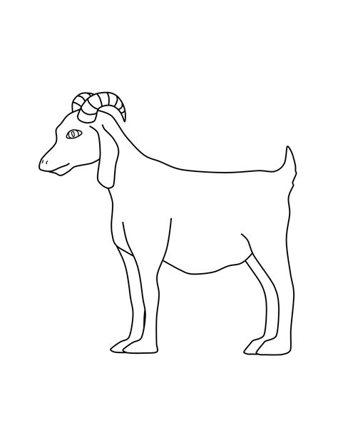 goat colors free printable goat coloring pages for