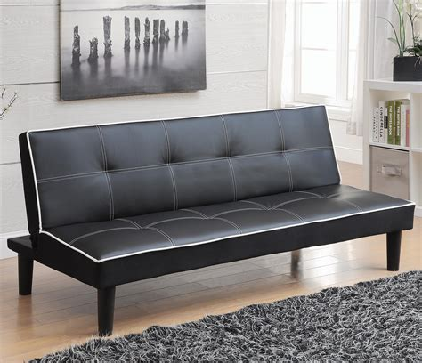 Sofa Beds And Futons Sofa Bed In Black Leatherette With