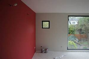j peintures maisonds With peinture mur rouge et gris