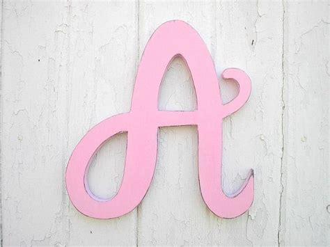 wooden letters   light pink feminine font baby girl ig letter alphabet monogram nursery baby