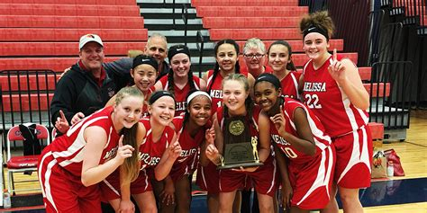 middle school girls basketball teams named champion runner