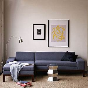 A low blue sectional sofa decoist for Sectional sofa low back