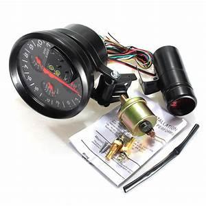 Car 4 In1 Led 11000 Rpm Tachometer Oil Water Temp Pressure