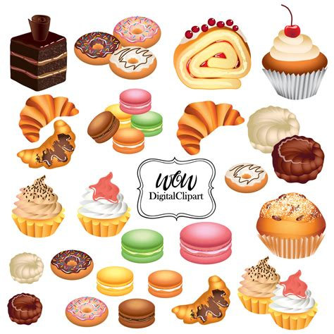 Pastry Clipart Running Pastries Clipart Clipground