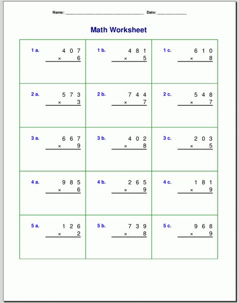 Great resource for lesson plans, quizzes, homework, or just these multiplication worksheets are a great resource for children in kindergarten, 1st grade, 2nd grade, 3rd grade, 4th grade, and 5th grade. 4th Grade Multiplication Worksheets - Best Coloring Pages For Kids
