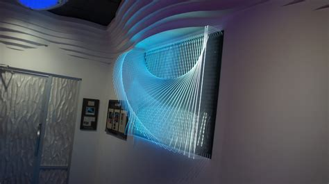blog clear acrylic sculptural led  wall panel