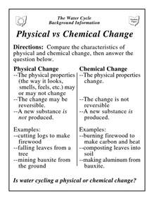 Worksheet On Chemical Vs Physical Properties And Changes Answers ...