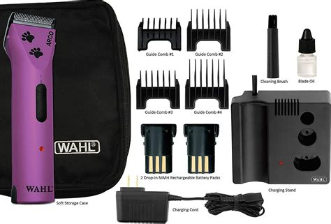 wahl arco cordless pet clipper kit purple chewycom