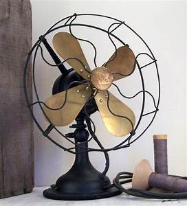 Antique Robbins And Myers Brass Blade Electric Fan