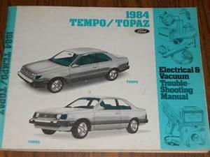 Purchase 1984 Ford Tempo    Mercury Topaz    Wiring  U0026 Vacuum