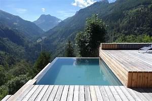 Piscine A Débordement : construction piscine d bordement miroir suisse ~ Farleysfitness.com Idées de Décoration