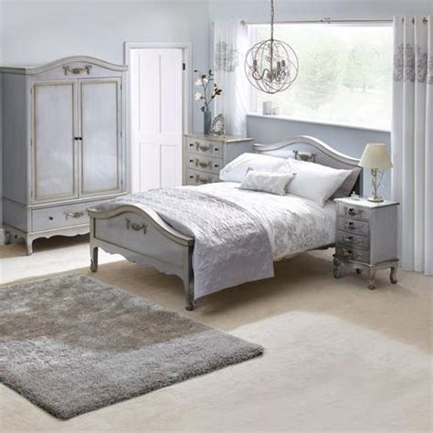 Silver Bedroom Furniture by Toulouse Silver Bedroom Collection Dunelm