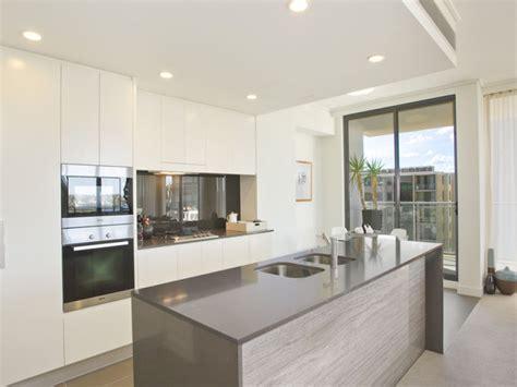 modern kitchen island bench provincial single line kitchen design tiles