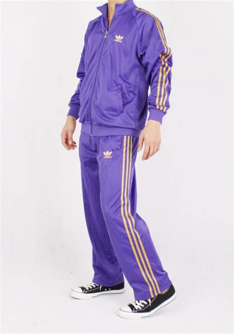 purple  gold adidas tracksuit adidas tracksuit