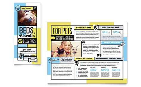 pet boarding brochure template design
