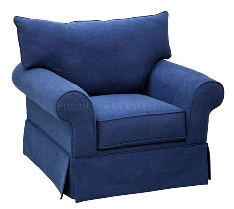 Blue Denim Loveseat by Blue Denim Fabric Modern Sofa Loveseat Set W Options