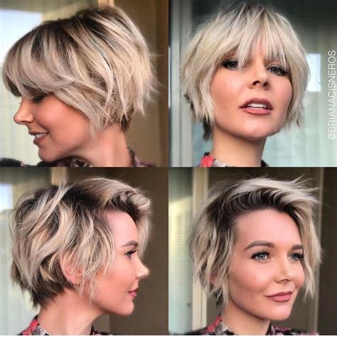 trendy layered short haircut ideas  extra