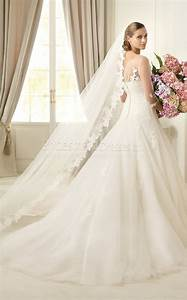 glamorous a line bateau half sleeve lacetullelace floor With church wedding dresses