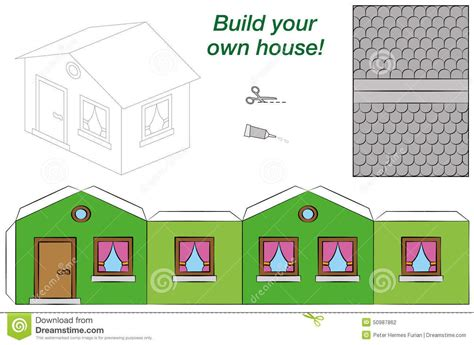 House Template Paper House Template S 248 K Paper Houses