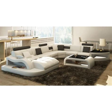 canape noir et blanc canapé d 39 angle design panoramique blanc et noir achat