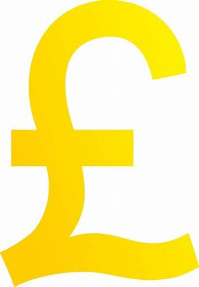 Pound Sterling Clipart Symbol Golden Money British
