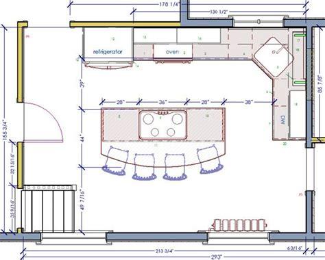 kitchen floor plan layouts best 25 kitchen floor plans ideas on open 4799