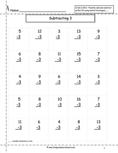 grade math worksheet addition and subtraction second grade math worksheets subtraction worksheets