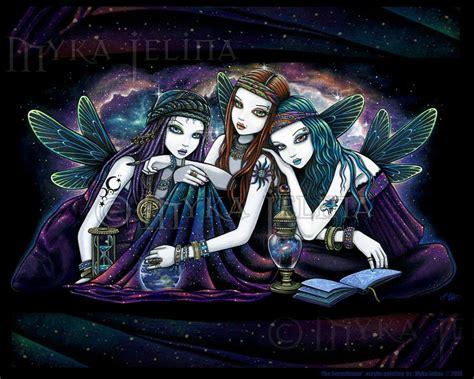 star fairy sisters celestial nebula angel signed myka