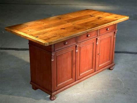 rustic kitchen island table rustic barn kitchen island with farm table top