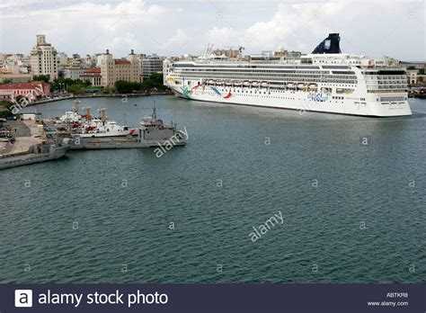 Puerto Rico San Juan Bay San Juan Cruise Ship Port Norwegian Cruise Stock Photo Royalty Free ...