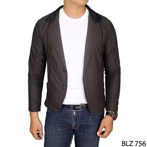 Jaket Jas Jas Modern Pria Hitam jaket jas pria katun hitam blz 756 gudang fashion