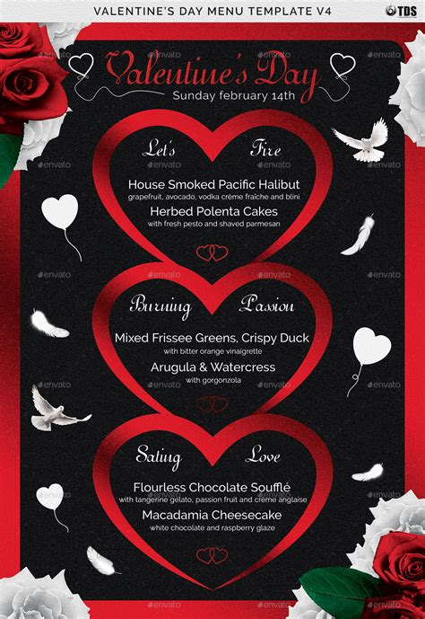 valentines day menu template   noryach graphicriver