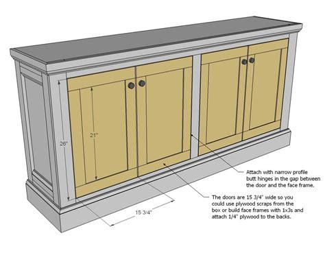 shanty sideboard sideboard furniture plans diy