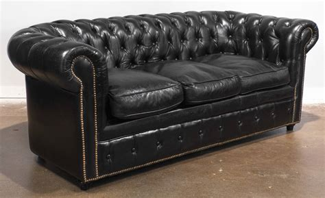 chesterfield sectional sofa vintage black leather chesterfield sofa at 1stdibs