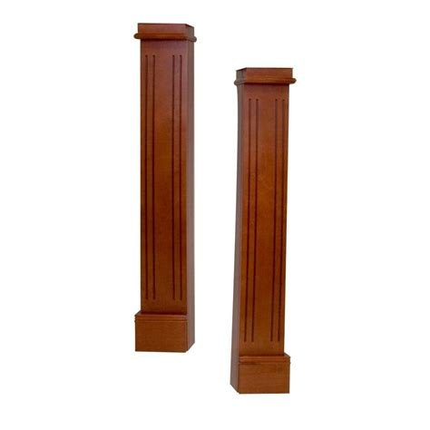 Fireplace Mantel Legs - elements harbor 5 6 in x 42 6 in mahogany leg and skirt