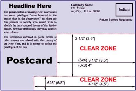 usps oversized postcard template direct mail 101 5 tips for an effective postcard mailing