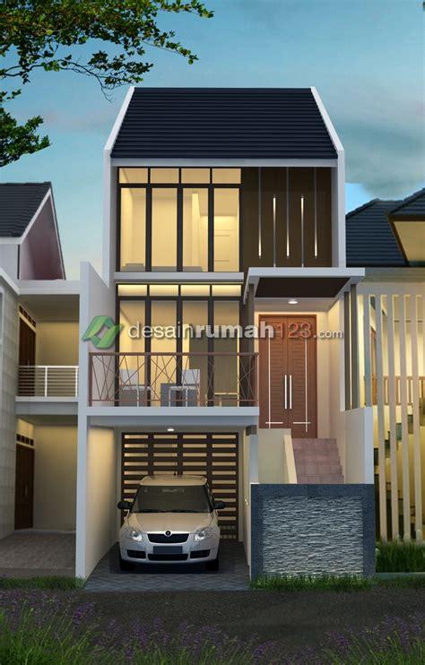 desain rumah    minimalis tropis  lantai desain