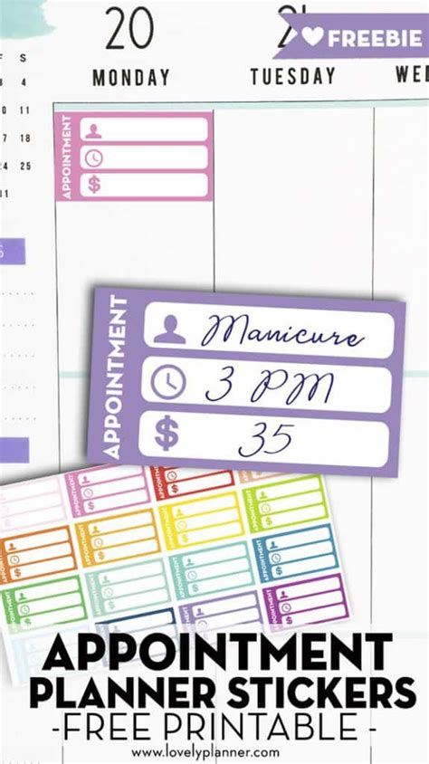 printable appointment planner stickers lovely planner