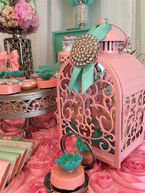 Teal And Pink Baby Shower Decorations by Teal And Pink Modern Chic Baby Shower Baby Shower Ideas