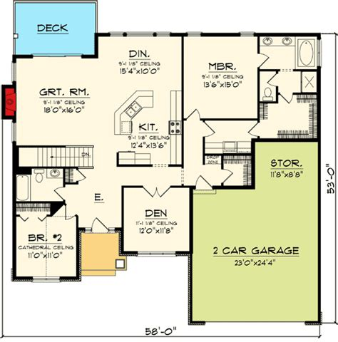 open floor plans for ranch style homes plan 89845ah open concept ranch home plan craftsman