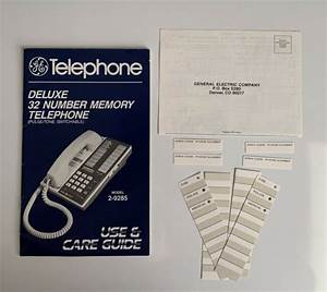 Vtg Ge Telephone Deluxe Use  U0026 Care Guide Manual Model 2