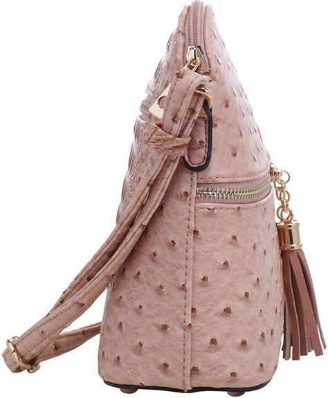 SG SUGU Lightweight Dome Crossbody Bag with Animal Skin ...