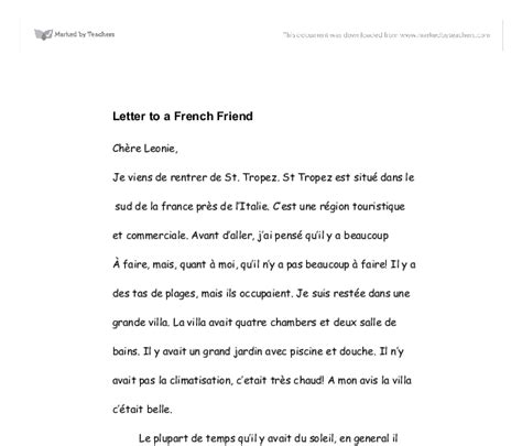 french letter letters  sample letters