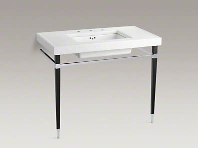 kohler kathryn console table up on a pedestal sink callier and thompson