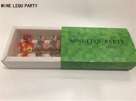 4 Pcs/set Mine Lequ Party Diy Figures Building Blocks Toys