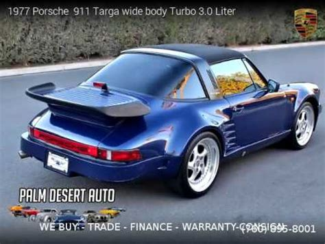 porsche  targa wide body turbo  liter palm